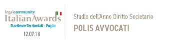 Studio dell'Anno Diritto Societario_ Polis Avvocati